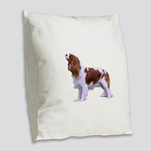 Blenheim Cavalier King Charles Burlap Throw Pillow