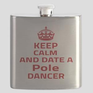 Keep calm & date a Pole dancer Flask