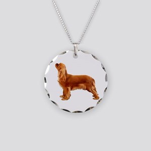 Ruby Cavalier King Charles S Necklace Circle Charm