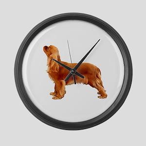 Ruby Cavalier King Charles Spanie Large Wall Clock