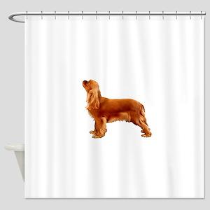 Ruby Cavalier King Charles Spaniel Shower Curtain