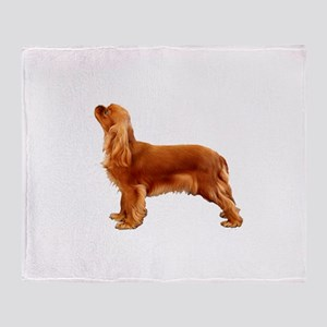 Ruby Cavalier King Charles Spaniel Throw Blanket