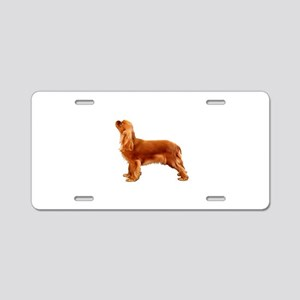 Ruby Cavalier King Charles Aluminum License Plate