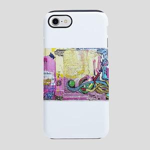Neon Yellow & Pink Graffiti iPhone 8/7 Tough Case