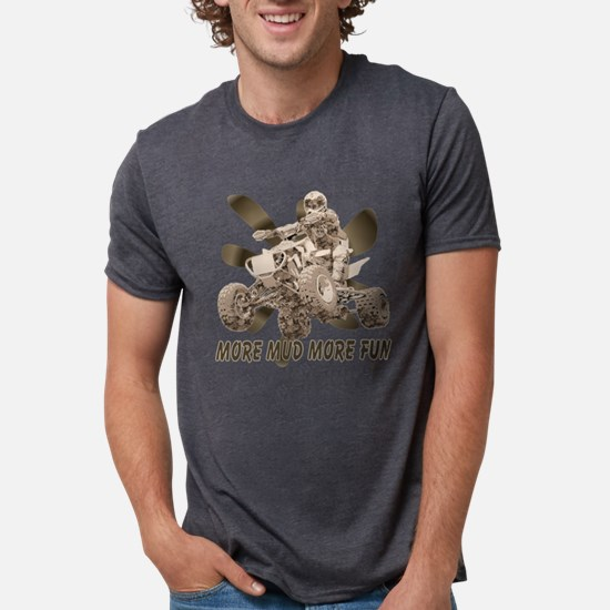 More Mud More Fun on an ATV T-Shirt
