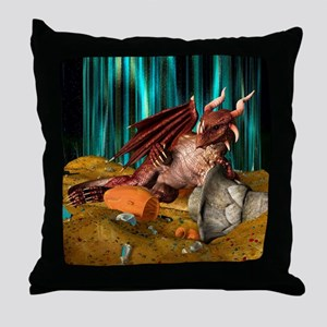 Dragon Treasure Throw Pillow