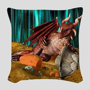 Dragon Treasure Woven Throw Pillow