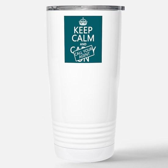 Keep Calm Call Your Agent Small Mugs