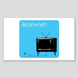 iBrainwash Rectangle Sticker