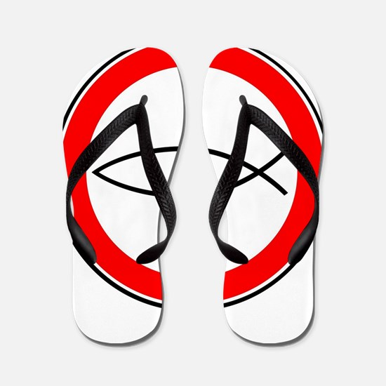 Cool Fish logo Flip Flops