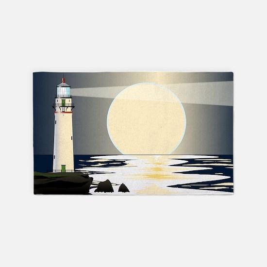 Cute Lighthouse Area Rug