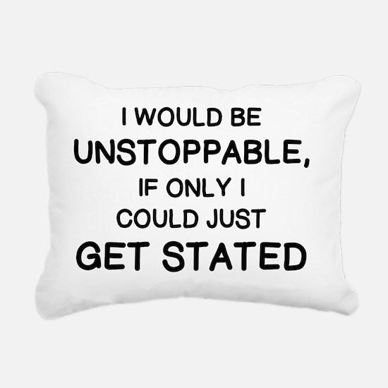 Unique Unstoppable Rectangular Canvas Pillow