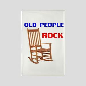 OLD FOLKS ROCK Rectangle Magnet