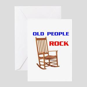 OLD FOLKS ROCK Greeting Card