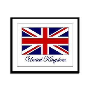 UK Flag Framed Panel Print
