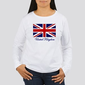 UK Flag Women's Long Sleeve T-Shirt