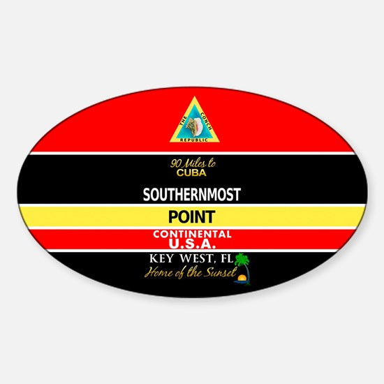 Southernmost Point Buoy Key West Decal