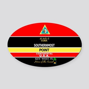Southernmost Point Buoy Key West Oval Car Magnet