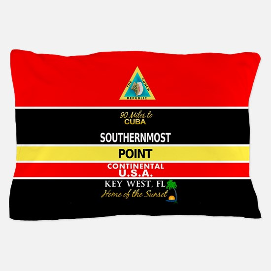 Southernmost Point Buoy Key West Pillow Case
