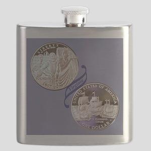 Jamestown Commemorative Dollar Flask