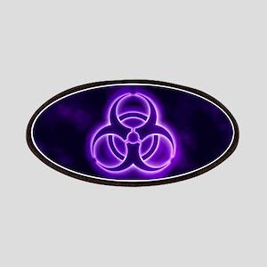 Purple Biohazard Symbol Patch