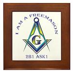 I am a Freemason Framed Tile