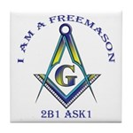 I am a Freemason Tile Coaster