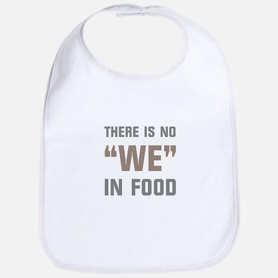 No We In Food Bib