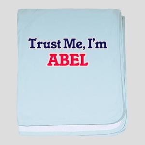 Trust Me, I'm Abel baby blanket