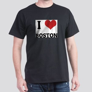 I Love Boston Ash Grey T-Shirt