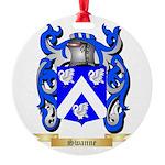 Swanne Round Ornament