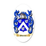 Swanne Oval Car Magnet