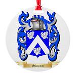 Swann Round Ornament