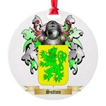 Sutton England Round Ornament