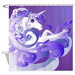 Purple Unicorn Fantasy Art Shower Curtain