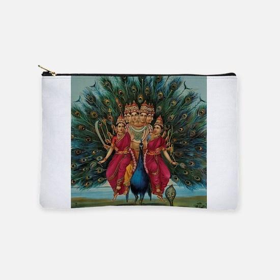 Hindu Peacock God Makeup Bag