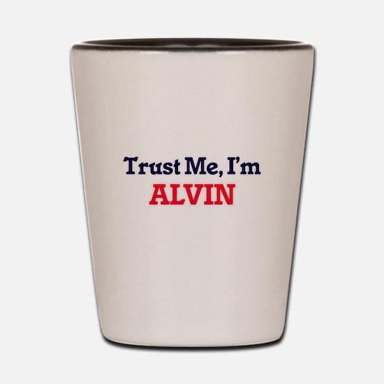 Trust Me, I'm Alvin Shot Glass