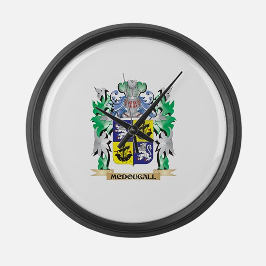 Mcdougall Coat of Arms - Family C Large Wall Clock