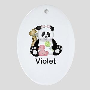 Zoey's Little Panda Oval Ornament