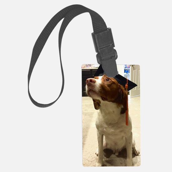 Unique Brittany spaniel Large Luggage Tag