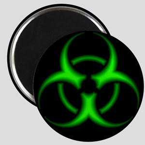Neon Green Biohazard Symbol Magnets