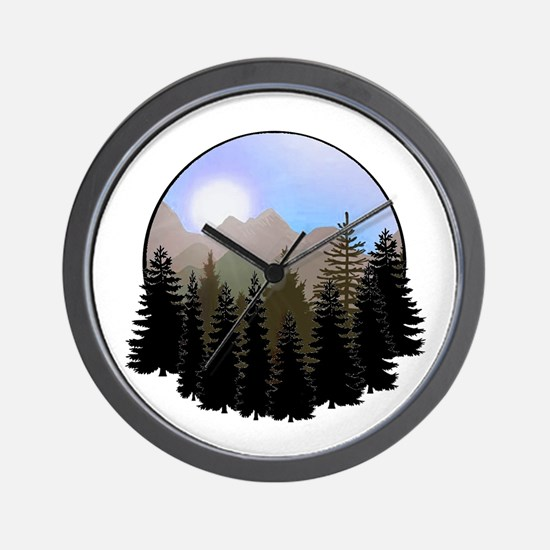 Funny Andes mountains Wall Clock