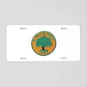 Paso Robles Police Aluminum License Plate