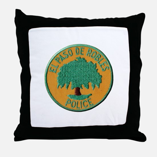 Paso Robles Police Throw Pillow