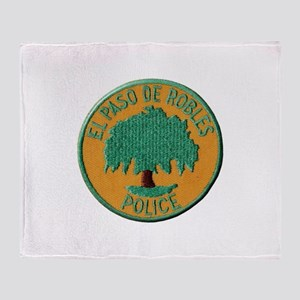 Paso Robles Police Throw Blanket