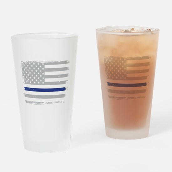 Unique Thin blue line Drinking Glass