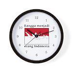Indonesian Pride Wall Clock