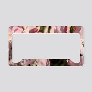 Pink Azaleas License Plate Holder