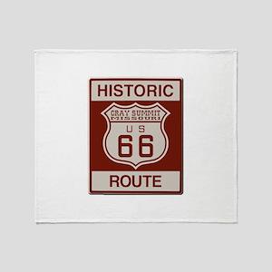 Gray Summit Route 66 Throw Blanket