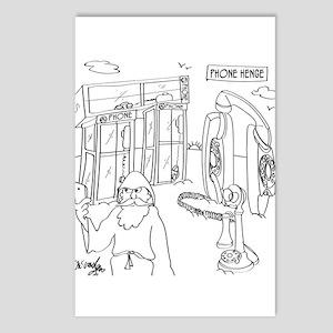 Phone Cartoon 9318 Postcards (Package of 8)